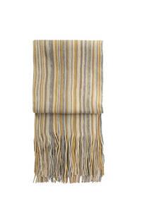 Nº 2 Bufanda de lana rayada con flecos premium de hombre.  Medidas: 200 cm x 20 cm / Peso: 150 gramos -