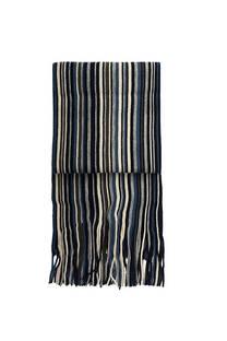 Nº 6 Bufanda de lana rayada con flecos premium de hombre.  Medidas: 200 cm x 20 cm / Peso: 150 gramos -