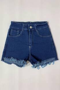 Short Azul Desflecado -
