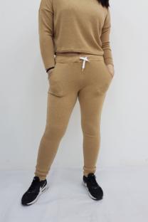 Pantalon lanilla friza c/bolsilo -