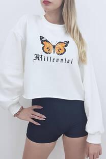 Buzo rustico estampa mariposa -