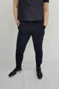 Pantalon rustico con ojal y cordon -