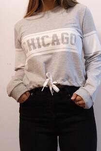 Buzo rustico con estampa CHICAGO -