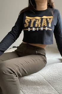 Remera m/l corta jersey con estampa STRAY -
