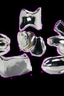 Caja De Anillos De Acero Blanco Con Forma X 36 U -