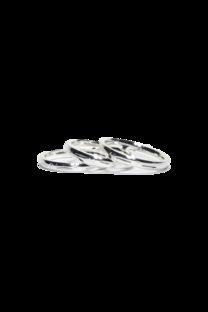 Caja De Anillos De Acero Blanco Con Forma X 3 Pcs X 36 U -