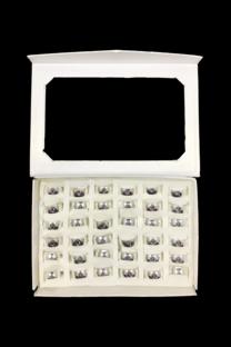 Caja De Anillos De Acero X 36 U -