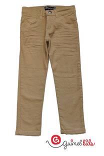 Pantalon de gabardina elastizada para niños -