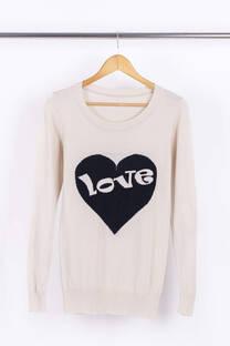 Sweater Corazón Love  -