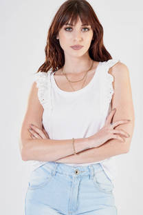 5110 – Musculosa Hombros Broderie -