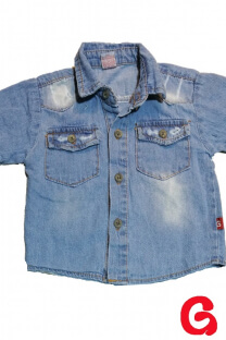Camisa bb jean celestona c/roturas -