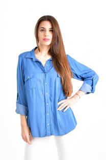 Camisa jean PRISMA lunares -