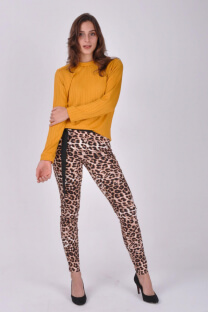 19I146-PANTALON BENGALINA ANIMAL PRINT -