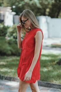 Vestido bordado liso CHIRAZ -