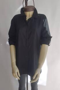 Camisa lisa tajos laterales -