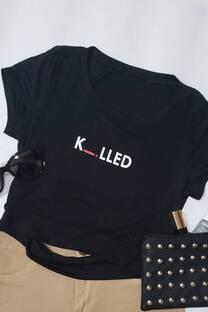 remera viscosa atras detalle estampado KILLED -