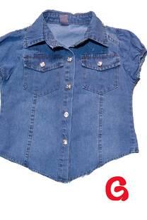 2109 - Camisa nena jean estampa pacific -