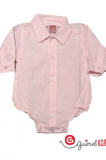 Body camisa mini beba rayado ml