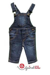 Jardinero mini bb jean elast -