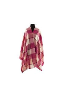 Modelo #21 Mantón rosa-fucsia de acrílico frizado desflecado.  Medidas: 75 cm x 200 cm -