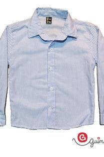 Camisa niño poplin rayado manga larga -