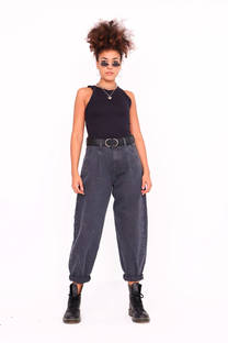 SLOUCHY PANTS RIGIDO NEGRO NEVADO -