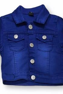 Campera bb jean elast unisex blue black -