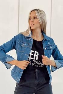 Campera Jeans azul Rotura -