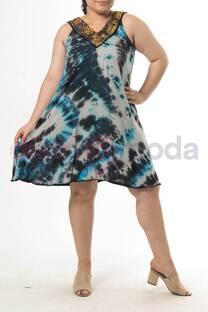 Vestido batik c/ en lentejuelas -