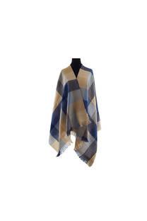 Modelo #44 Mantón azul-suela de acrílico frizado desflecado.  Medidas: 70 cm x 180 cm -