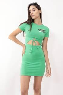 Vestido Algodon Del Atar -