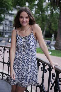 Vestido bordado GERIE -