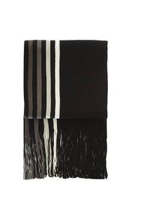 Bufanda de lana rayada con flecos premium de hombre.  Medidas: 200 cm x 20 cm / Peso: 150 gramos -