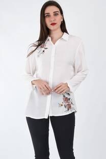 Camisa bordada flor -