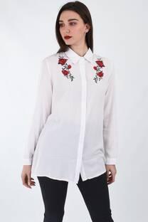 Camisa bordada rosas -