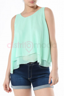 Musculosa Doble Capa talle 4 y 5 -