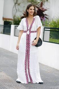 Vestido largo GALONIA -