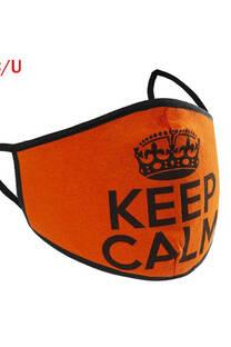 """Tapa boca de algodón estampado """"KEEP CALM"""" con bolsillo para insertar filtro pack surtido x 10 unidades -"""