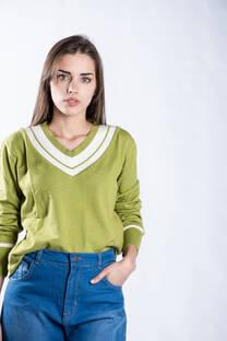 Remera sweater lycra combinado -
