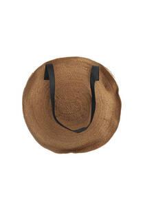 Cartera de rafia con doble bolsillo interno, con cierre y tira regulable.  Medidas: 40 cm -
