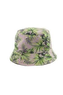 Sombrero piluso para adultos con estampado de hojas. -