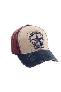 "Gorra trucker de jean vintage con estampado ""AUTHENTIC OFFICIAL QUALITY"" y tira regulable. -"