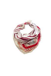Pañuelo cuadrado de seda con diseño de cebra.Medidas: 50 cm x 50 cm -