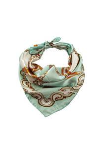 Pañuelo cuadrado de seda gatito cadenas.  Medidas: 50 cm x 50 cm -
