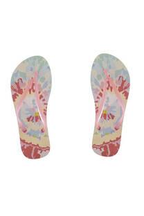 Ojota de dama goma inyectada con diseño batik rosa. -