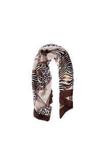 Pañuelo dama de seda cuadrado con estampado animal print.  Medidas: 90 cm x 90 cm -