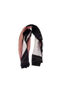 Pañuelo dama de seda cuadrado con estampado tricolor.  Medidas: 90 cm x 90 cm -