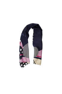 Pañuelo dama de seda cuadrado con estampado de lunares.  Medidas: 90 cm x 90 cm -