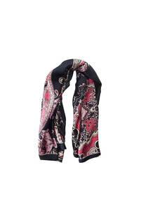 Pañuelo dama de seda cuadrado con estampado de mandala.  Medidas: 90 cm x 90 cm -