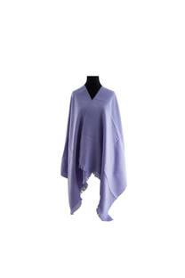 #ML4 Mantón premium de lana frizado lila, con flecos.  Medidas: 70 cm x 200 cm. -